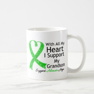 I Support My Grandson With All My Heart Classic White Coffee Mug