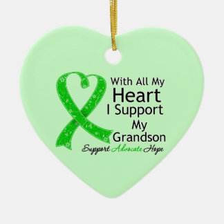 I Support My Grandson With All My Heart Ornaments