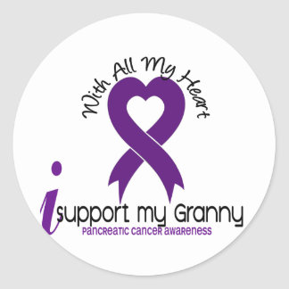 I Support My Granny Pancreatic Cancer Stickers