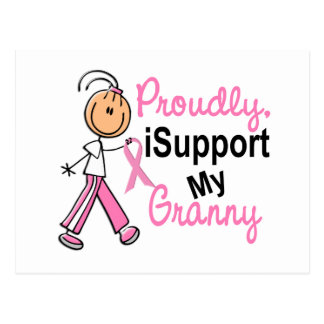 I Support My Granny SFT Breast Cancer T-Shirts & G Postcard