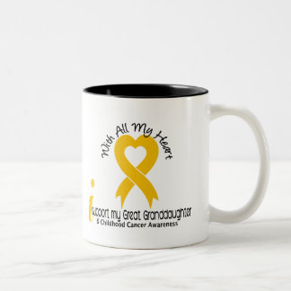 I Support My Great Granddaughter Childhood Cancer Coffee Mug