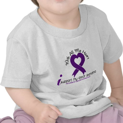 I Support My Great Grandma Pancreatic Cancer Shirt