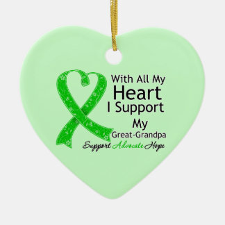 I Support My Great-Grandpa With All My Heart Ceramic Ornament