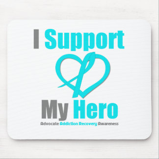 I Support My Hero Addiction Recovery Mousepad