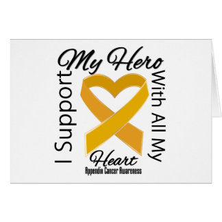 I Support My Hero - Appendix Cancer Awareness Card