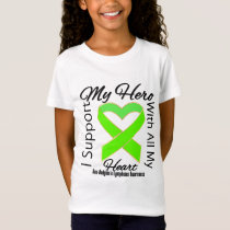 I Support My Hero  Non-Hodgkins Lymphoma Awareness T-Shirt