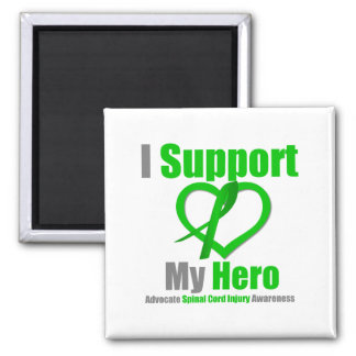 I Support My Hero Spinal Cord Injury 2 Inch Square Magnet