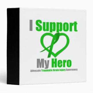 I Support My Hero Traumatic Brain Injury 3 Ring Binder