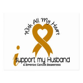 I Support My Husband Appendix Cancer Postcard