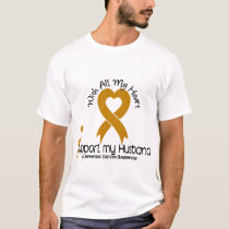 I Support My Husband Appendix Cancer T-Shirt