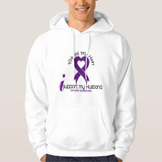 I Support My Husband Epilepsy Hoodie