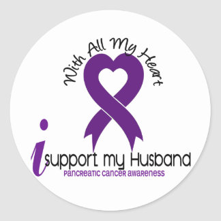 I Support My Husband Pancreatic Cancer Stickers