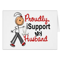 I Support My Husband SFT (Bone / Lung Cancer) Card