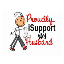 I Support My Husband SFT (Bone / Lung Cancer) Postcard