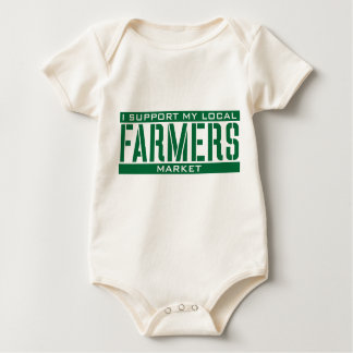 I Support my local Farmers Market Baby Bodysuit