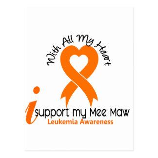 I Support My Mee Maw Leukemia Postcard