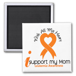 I Support My Mom Leukemia Magnets