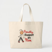 I Support My Mom SFT (Bone / Lung Cancer) Large Tote Bag