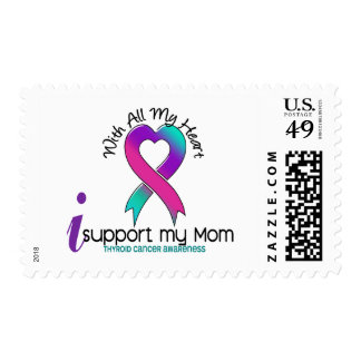 I Support My Mom Thyroid Cancer Postage Stamp