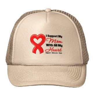 I Support My Mom With All My Heart Mesh Hat