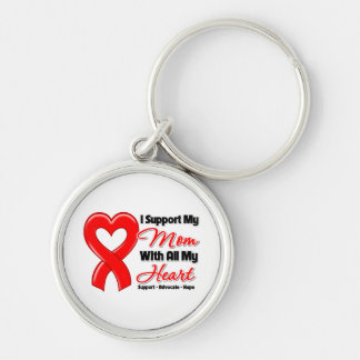 I Support My Mom With All My Heart Keychain