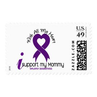 I Support My Mommy Epilepsy Postage Stamp