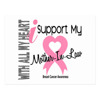 I Support My Mother-In-Law Breast Cancer Postcard
