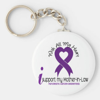 I Support My Mother-In-Law Pancreatic Cancer Keychain
