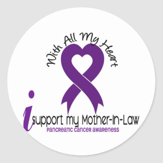 I Support My Mother-In-Law Pancreatic Cancer Stickers