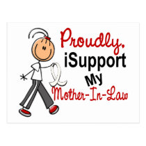 I Support My Mother-In-Law SFT Bone / Lung Cancer Postcard