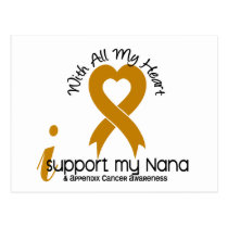 I Support My Nana Appendix Cancer Postcard