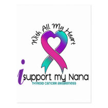 I Support My Nana Thyroid Cancer Postcard