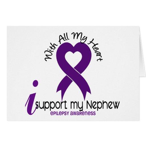 I Support My Nephew Epilepsy Greeting Card