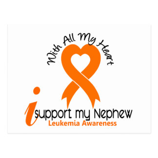 I Support My Nephew Leukemia Postcard