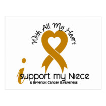 I Support My Niece Appendix Cancer Postcard