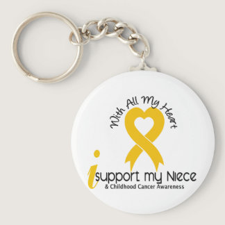I Support My Niece Childhood Cancer Keychain