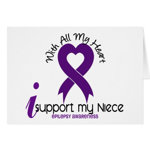 I Support My Niece Epilepsy Greeting Cards