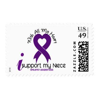 I Support My Niece Epilepsy Postage Stamp
