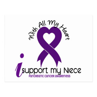 I Support My Niece Pancreatic Cancer Postcard