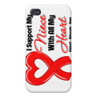 I Support My Niece With All My Heart iPhone 4/4S Covers