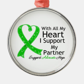 I Support My Partner With All My Heart Christmas Ornaments