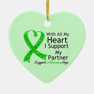 I Support My Partner With All My Heart Ornament
