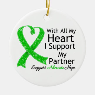 I Support My Partner With All My Heart Christmas Tree Ornament