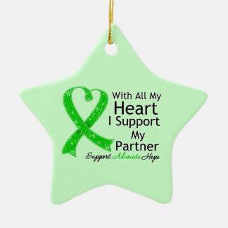 I Support My Partner With All My Heart Christmas Tree Ornaments
