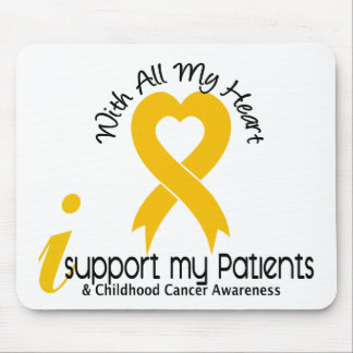 I Support My Patients Childhood Cancer Mouse Pad
