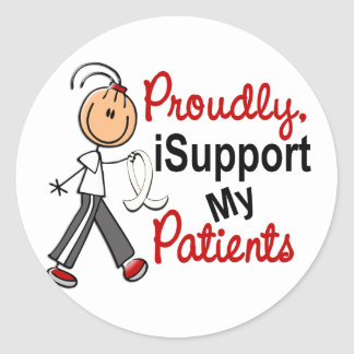 I Support My Patients SFT (Bone / Lung Cancer) Sticker
