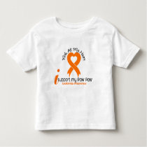 I Support My Paw Paw Leukemia Toddler T-shirt