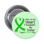 I Support My Sister All My Heart 2 Inch Round Button