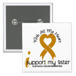 I Support My Sister Appendix Cancer Buttons