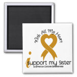I Support My Sister Appendix Cancer Refrigerator Magnets